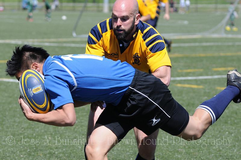 Gotham Knights Rugby Football Club, Brooklyn Rugby & Hudson Valley Rebel RFC at Randall's Island, NY, April 10, 2010