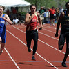 Luke Johnson, left,  of Peak to Peak, finished second in the 400 meters.<br /> Cliff Grassmick / May 22, 2010