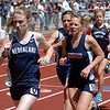 Kelley Robinson, left, of Nederland, was second in the 2A 1600 meters on Saturday.<br /> Cliff Grassmick / May 22, 2010