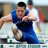 Longmont's Aaron Praska places second in the Men's 4A 110 meter hurdles during the State Track Championships at Jefferson County Stadium in Lakewood, Colorado May 21, 2010.  CAMERA/Mark Leffingwell