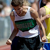 Niwot's David Perry celebrates winning the men's 3200 during the State Track Championships at Jefferson County Stadium in Lakewood, Colorado May 21, 2010.  CAMERA/Mark Leffingwell