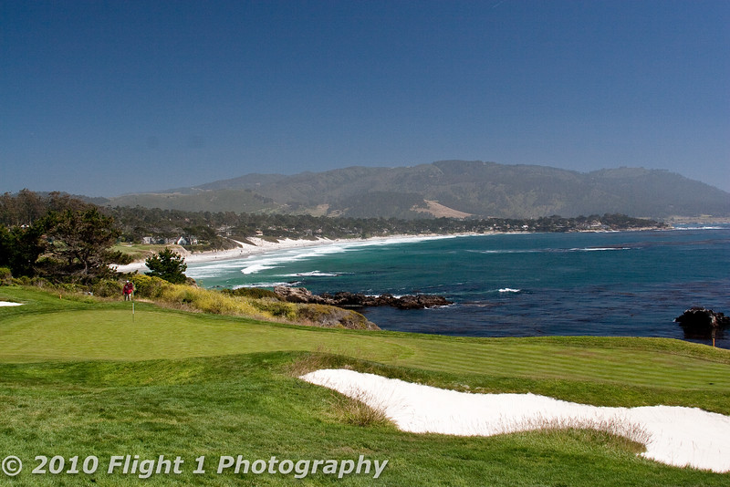Number 8 green at Pebble Beach Giolf Links