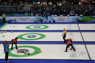 Curling games consist of ten ends, or rounds. Each end involves sending all 16 stones to the other end of the sheet, or lane. A curling game lasts approximately 3 hours, and each team is allocated 70-some minutes to use as they like.