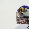 The US Women's Hockey team has a very patriotic goalie.