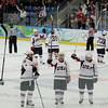 After the USA women's hockey team beat Russia 14-0, and took only one shot on goal during the entire thrid period, they did this funky sticks-in-the-air routine.