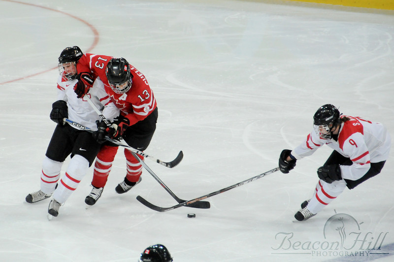 As it turns out, women's hockey rules forbid body checking.