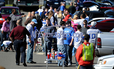 10/9/2010 Mike Orazzi | Staff CCSU fans tailgate before the start of Saturday's homecoming football game with Duquesne.