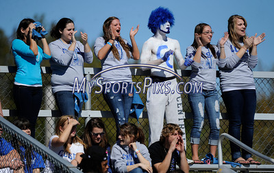 10/9/2010 Mike Orazzi | Staff CCSU fans during Saturday's homecoming football game with Duquesne.