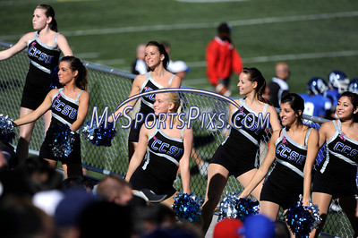 10/9/2010 Mike Orazzi | Staff Members of the CCSU Dance Team during Saturday's homecoming football game with Duquesne.