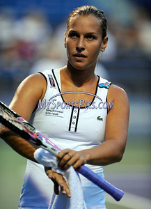 8/25/2010 Mike Orazzi | Staff Dominkia Cibulkova during her 6-4, 6-1 loss to Caroline Wozniacki  in a second round match on Stadium Court at the 2010 Pilot Pen tennis tournament at Yale University on Wednesday, August 25, 2010.