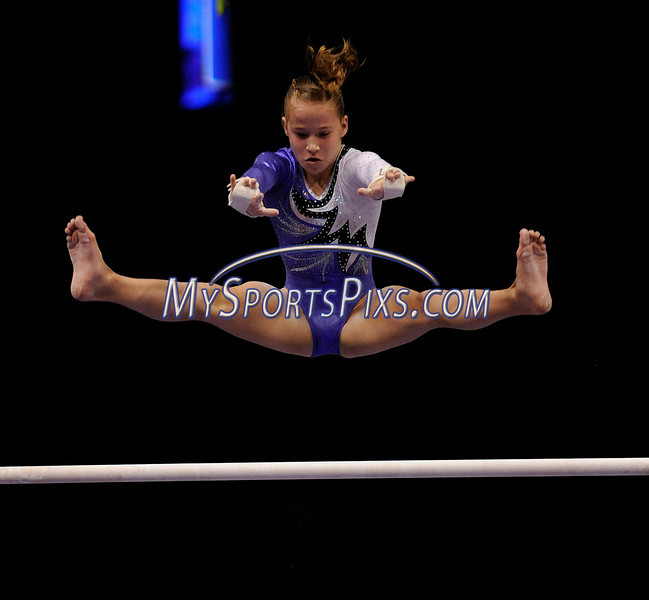 8/14/2010 Mike Orazzi   Staff<br /> Madison Kocian competes during the 2010 Visa Gymnastics Championships at the XL Center in Hartford, Conn., on Saturday, August 14, 2010.