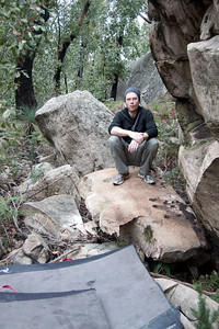 The Boulder that Ross tried to Kill himself with!
