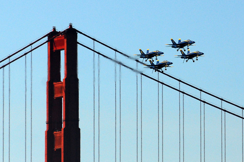 US Navy Blue Angels - Diamond Formation