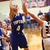 2-2-18<br /> Tipton vs Eastbrook girls sectional semifinal<br /> Tipton's Cassidy Crawford shoots.<br /> Kelly Lafferty Gerber   Kokomo Tribune