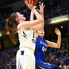 2-24-18<br /> Northwestern wins the 3A state championship against Greensburg 63-42. Stephanie Burns goes up for a shot.<br /> Kelly Lafferty Gerber | Kokomo Tribune