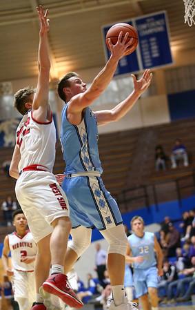 2-27-18<br /> Maconaquah vs West Lafayette boys basketball<br /> Mac's Ethan Larason shoots.<br /> Kelly Lafferty Gerber   Kokomo Tribune