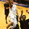 2-1-18<br /> Kokomo vs Arsenal Tech boys basketball<br /> Kokomo's Trajan Deckard puts up the first of two layups in a row, breaking the 54-54 tie.<br /> Kelly Lafferty Gerber | Kokomo Tribune