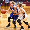 2-2-18<br /> Tipton vs Eastbrook girls sectional semifinal<br /> Tipton's Lexi Altherr dribbles down the court.<br /> Kelly Lafferty Gerber | Kokomo Tribune