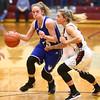 2-2-18<br /> Tipton vs Eastbrook girls sectional semifinal<br /> Tipton's Lexi Altherr dribbles down the court.<br /> Kelly Lafferty Gerber | Kokomo Tribune