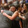 2-17-18<br /> Northwestern vs Fairfield semistate<br /> Kendall Bostic hugs her dad and assistant coach Kevin Bostic.<br /> Kelly Lafferty Gerber | Kokomo Tribune