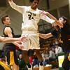 2-13-18<br /> Eastern vs Alexandria boys basketball<br /> The ball is knocked loose as Greg Black is fouled by Alexandria.<br /> Kelly Lafferty Gerber   Kokomo Tribune