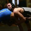 2-3-18<br /> Regional wrestling<br /> Western's Hunter Cottingham defeats Tri-Central's Ethan Mason in the 132.<br /> Kelly Lafferty Gerber | Kokomo Tribune