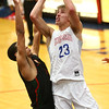 2-1-18<br /> Kokomo vs Arsenal Tech boys basketball<br /> Anthony Barnard shoots.<br /> Kelly Lafferty Gerber | Kokomo Tribune