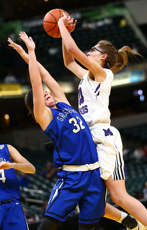 2-24-18<br /> Northwestern wins the 3A state championship against Greensburg 63-42. Madison Layden shoots.<br /> Kelly Lafferty Gerber | Kokomo Tribune
