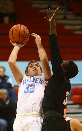 2-20-18<br /> Maconaquah vs Taylor boys basketball<br /> Mac's Conner Middlekauff shoots.<br /> Kelly Lafferty Gerber | Kokomo Tribune