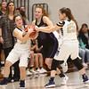 2-17-18<br /> Northwestern vs Fairfield semistate<br /> Klair Merrell tries to get ahold of a loose ball.<br /> Kelly Lafferty Gerber | Kokomo Tribune