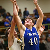2-6-18<br /> Eastern vs Tipton boys basketball<br /> Tipton's Dylan Muse puts up a shot.<br /> Kelly Lafferty Gerber | Kokomo Tribune