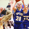 2-2-18<br /> Tipton vs Eastbrook girls sectional semifinal<br /> Tipton's Kelsey Mitchell shoots.<br /> Kelly Lafferty Gerber | Kokomo Tribune