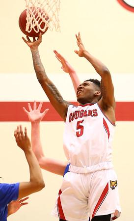 2-21-18<br /> IUK vs Ohio Christian boys basketball<br /> Antoin Clifton shoots.<br /> Kelly Lafferty Gerber | Kokomo Tribune