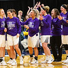 Sara Vass(second from left) wins the Mental Attitude Award after Northwestern girls win the State Championship on February 24, 2018, at Bankers Life Fieldhouse.<br />  Tim Bath | Kokomo Tribune