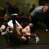 2-3-18<br /> Regional wrestling<br /> Western's Dylan Goudy defeats Eastern's Tytus Morrisett in the 138.<br /> Kelly Lafferty Gerber | Kokomo Tribune