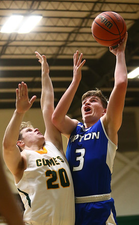 2-6-18<br /> Eastern vs Tipton boys basketball<br /> Tipton's Grant Shively puts up a shot.<br /> Kelly Lafferty Gerber | Kokomo Tribune