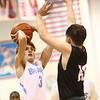 2-20-18<br /> Maconaquah vs Taylor boys basketball<br /> Mac's Chandler Pitts shoots.<br /> Kelly Lafferty Gerber | Kokomo Tribune