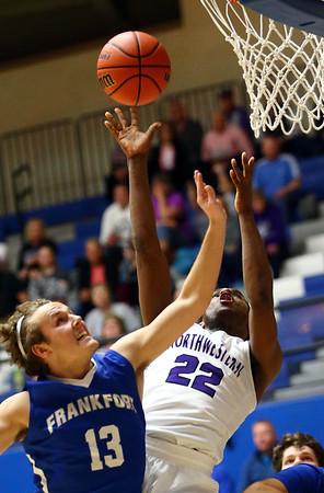 2-27-18<br /> Northwestern vs Frankfort boys basketball<br /> Tayson Parker puts up a shot.<br /> Kelly Lafferty Gerber | Kokomo Tribune