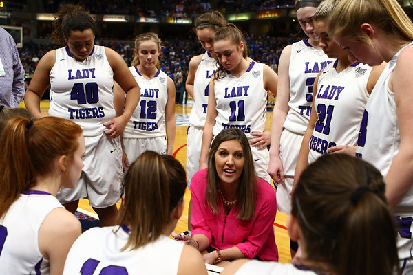 2-24-18<br /> Northwestern wins the 3A state championship against Greensburg 63-42. Kathie Layden talks to the team before the game begins.<br /> Kelly Lafferty Gerber | Kokomo Tribune