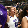2-24-18<br /> Northwestern wins the 3A state championship against Greensburg 63-42. Morgan Mercer, left, holds up her state championship shirt after the game.<br /> Kelly Lafferty Gerber | Kokomo Tribune