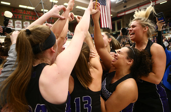 2-17-18<br /> Northwestern vs Fairfield semistate<br /> The team celebrates after their semistate win.<br /> Kelly Lafferty Gerber | Kokomo Tribune