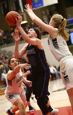 2-17-18<br /> Northwestern vs Fairfield semistate<br /> Stephanie Burns puts up a shot.<br /> Kelly Lafferty Gerber | Kokomo Tribune