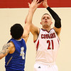 2-21-18<br /> IUK vs Ohio Christian boys basketball<br /> IUK's Trent Elliott puts up a three.<br /> Kelly Lafferty Gerber | Kokomo Tribune