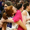 2-24-18<br /> Northwestern wins the 3A state championship against Greensburg 63-42. Coach Kathie Layden hugs Klair Merrell as the game nears a close.<br /> Kelly Lafferty Gerber | Kokomo Tribune