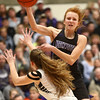 2-17-18<br /> Northwestern vs Fairfield semistate<br /> Klair Merrell throws a pass.<br /> Kelly Lafferty Gerber | Kokomo Tribune