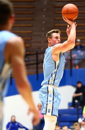 2-27-18<br /> Maconaquah vs West Lafayette boys basketball<br /> Ethan Larason puts up a shot.<br /> Kelly Lafferty Gerber | Kokomo Tribune
