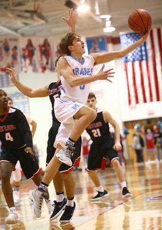 2-20-18<br /> Maconaquah vs Taylor boys basketball<br /> Mac's Chandler Pitts shoots.<br /> Kelly Lafferty Gerber   Kokomo Tribune