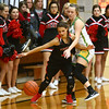 2-2-18<br /> Eastern vs Taylor girls sectional semifinal<br /> Taylor's Alison Pemberton and Eastern's Kaylee Weeks go after a loose ball.<br /> Kelly Lafferty Gerber | Kokomo Tribune