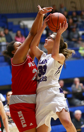 2-3-18<br /> Northwestern vs West Lafayette girls basketball sectional championship<br /> Madison Layden puts up a shot.<br /> Kelly Lafferty Gerber | Kokomo Tribune