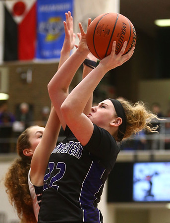 2-17-18<br /> Northwestern vs Fairfield semistate<br /> Taylor Boruff shoots.<br /> Kelly Lafferty Gerber | Kokomo Tribune